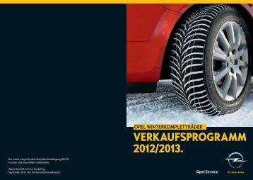 VERKAUFSPROGRAMM 2012/2013. - Opel Vogl