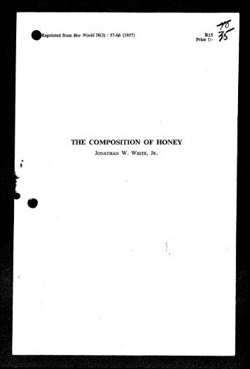 THE COMPOSITION OF HONEY