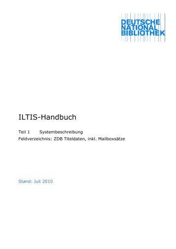 Feldverzeichnis / Integrierte Form - Deutsche Nationalbibliothek