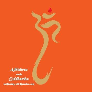 Adhishree Wedding Card