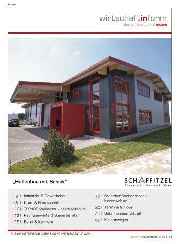 Industrie- & Gewerbebau I wirtschaftinform.de 09.2012