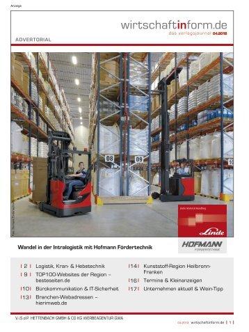 Logistik, Kran- & Hebetechnik I wirtschaftinform.de 04.2013