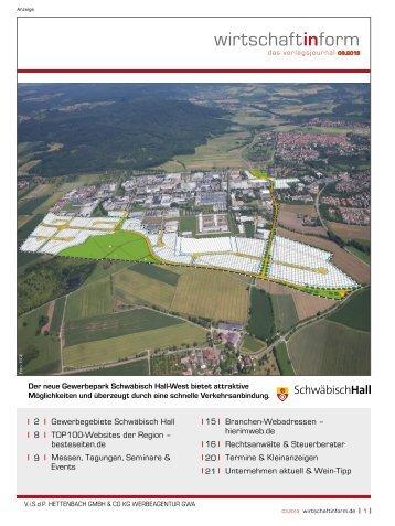 Gewerbegebiete Schwäbisch Hall I wirtschaftinform.de 03.2013