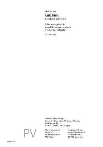 Flächennutzungsplan Erläuterungen - Gemeinde Gilching