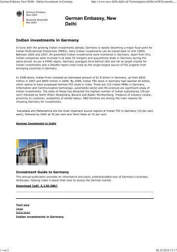 Indian investments in Germany - Global Innovation