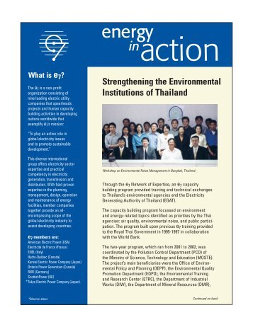 Strengthening the Environmental Institutions of Thailand - Global ...