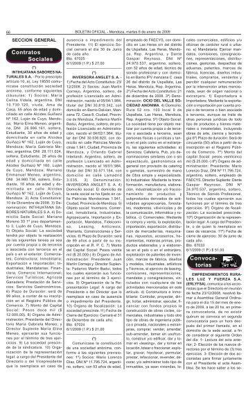 Contratos Sociales Convoca- torias - Gobierno de Mendoza