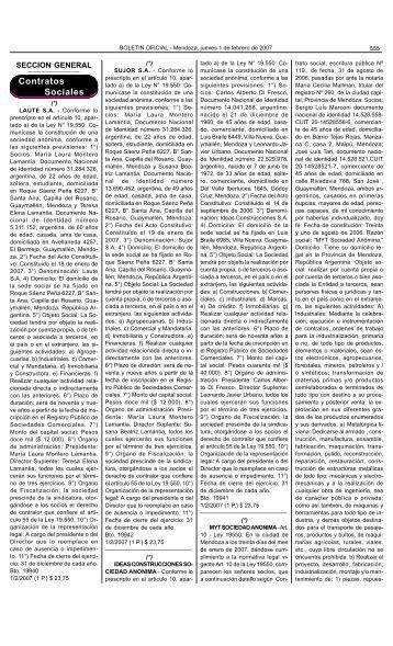Boletin Oficial N 27836 del 01/02/2007 - Gobierno de Mendoza