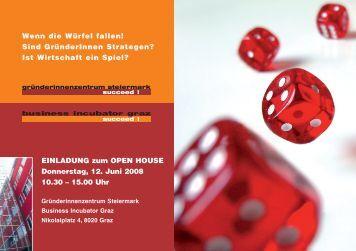 EINLADUNG zum OPEN HOUSE Donnerstag, 12. Juni 2008 10.30 ...