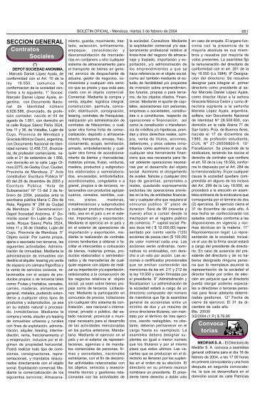 Boletin Oficial N 27083 del 03/02/2004 - Gobierno de Mendoza