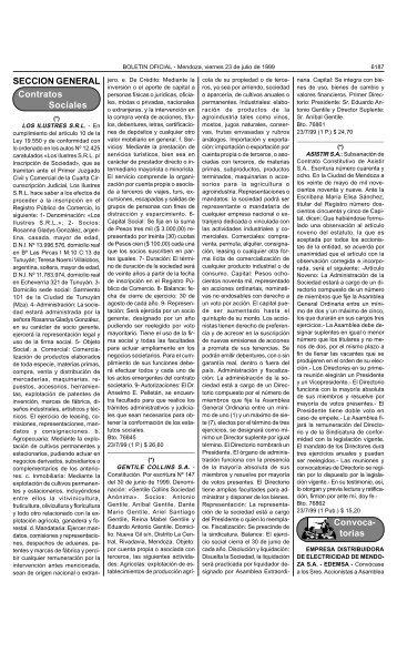 torias - Gobierno de Mendoza