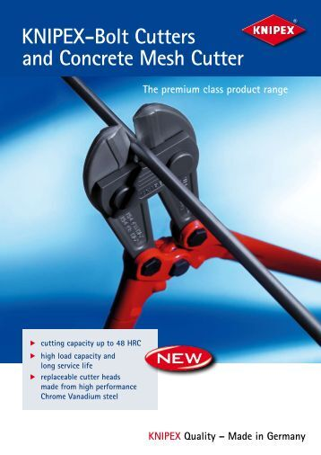 KNIPEX-Bolt Cutters and Concrete Mesh Cutter