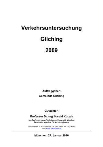 Verkehrsuntersuchng Gilching 2009 - Gemeinde Gilching