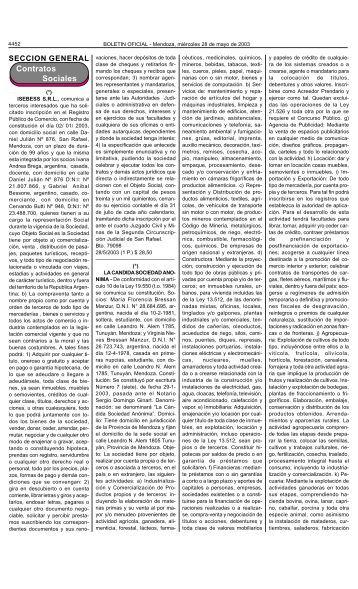 Boletin Oficial N 26912 del 28/05/2003