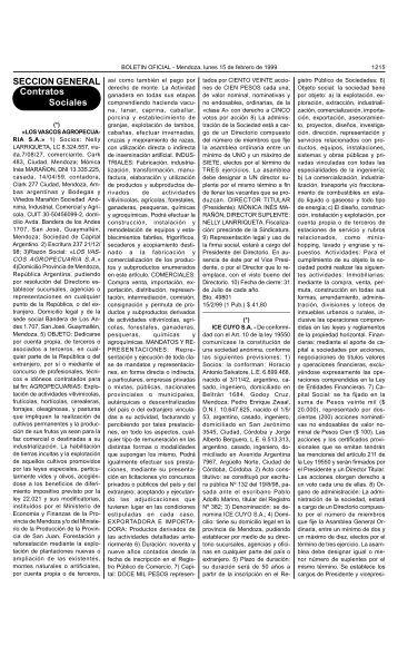 SECCION GENERAL Contratos Sociales - Gobierno de Mendoza