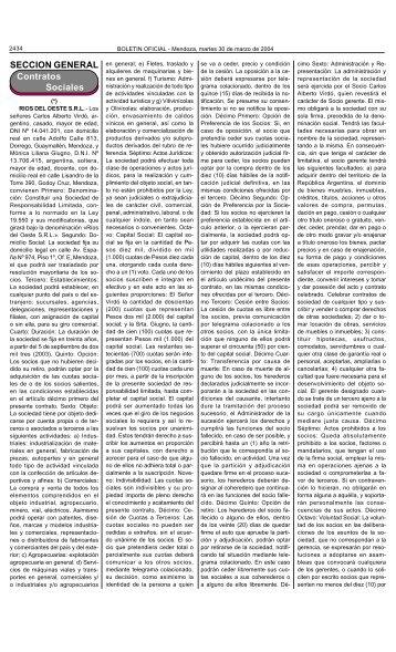 Boletin Oficial N 27123 del 30/03/2004 - Gobierno de Mendoza