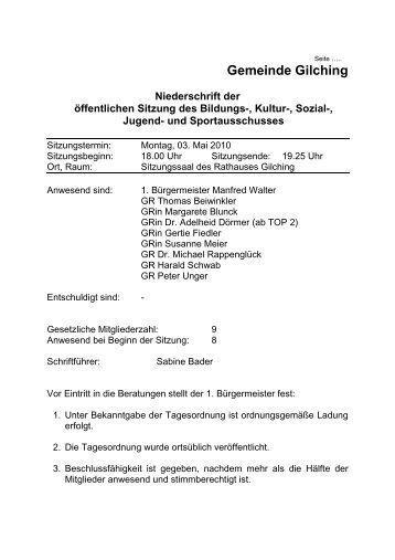 03. Mai 2010 - Gemeinde Gilching