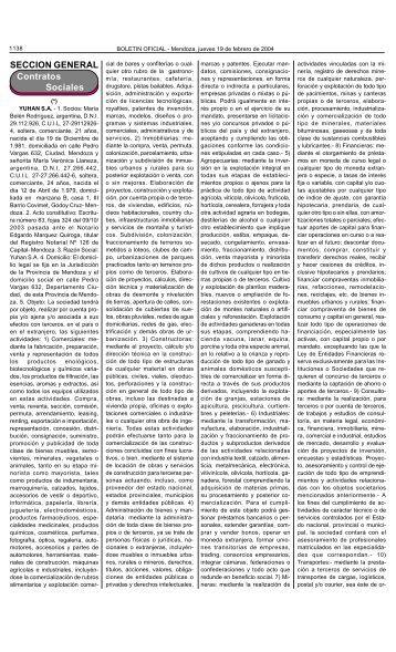 Boletin Oficial N 27095 del 19/02/2004