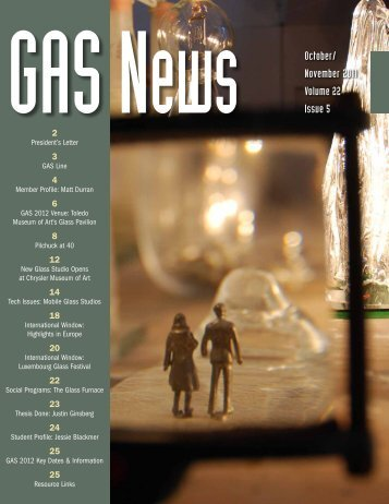 GASNews October/ November 2011 Volume 22 ... - Glass Art Society