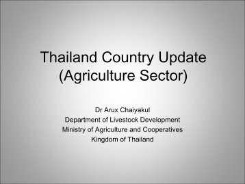 Thailand Country Livestock Profile - Global Methane Initiative
