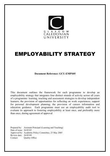 Glasgow caledonian university international strategy