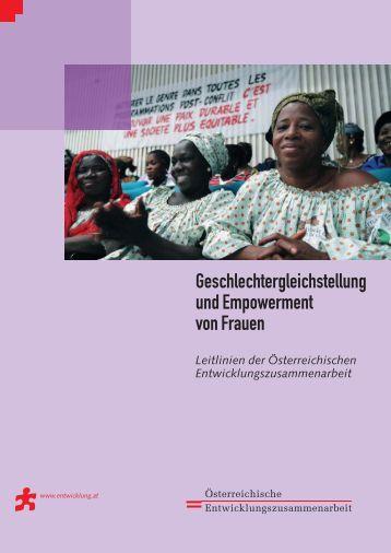 Leitlinie Geschlechtergleichstellung und Empowerment von Frauen