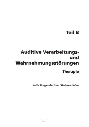 Teil B Auditive Verarbeitungs- und Wahrnehmungsstörungen