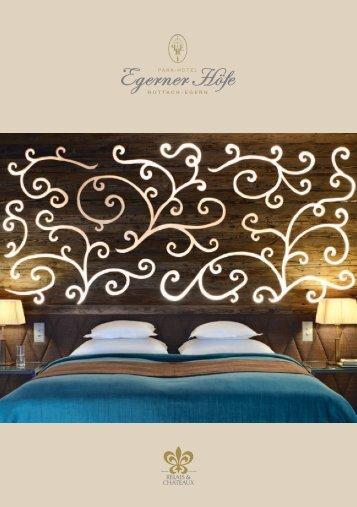 Imagebroschüre des Relais & Châteaux Park-Hotels Egerner Höfe