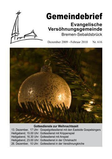 Gemeindebrief - Evangelische Versöhnungsgemeinde :: Bremen ...