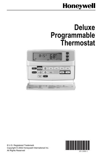 69-1400 - Delux Programmable Thermostat - Longviewweb.com