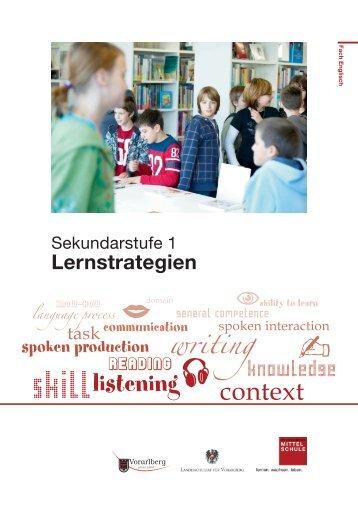 Broschüre Lernstrategien - Individualisierung