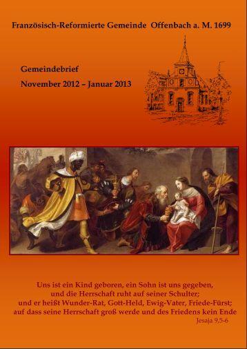 Gemeindebrief November 2012/Januar 2013