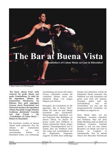 The Bar at Buena Vista - WILD Magazin