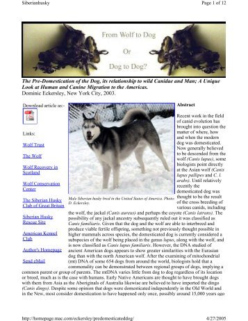 the domestication of the dog and its purpose The finding, detailed in this week's issue of the journal science, challenges past research that had placed dog domestication in east asia or the middle east and that had linked the phenomena to the rise of agriculture.