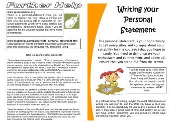 how to start personal statement for college You have requested a page or file which doesn't exist