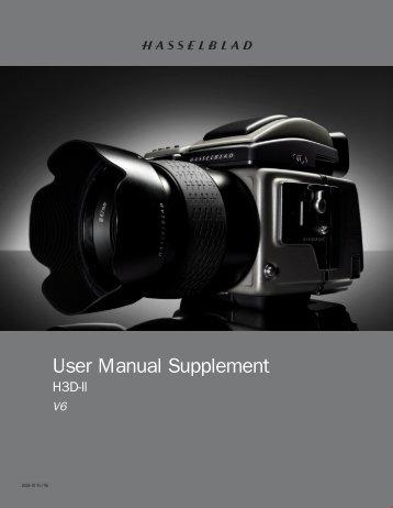 User Manual Supplement - Hasselblad