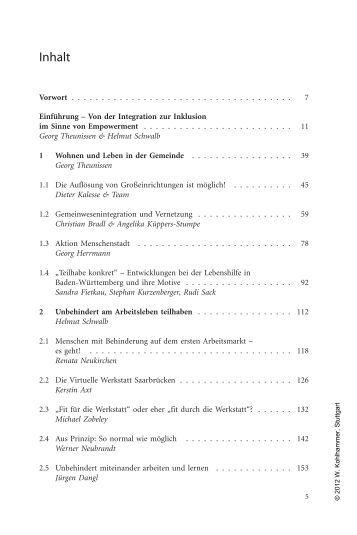Inklusion, Partizipation und Empowerment in der ... - Buecher.de