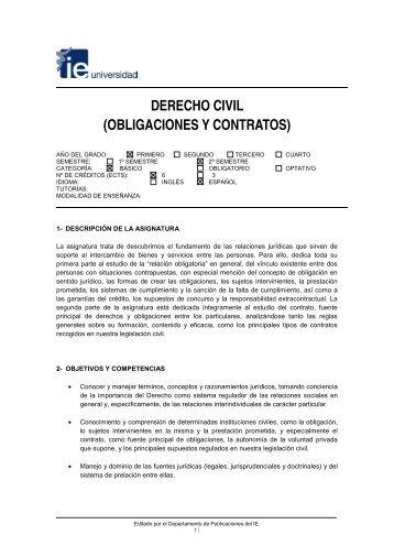 DERECHO CIVIL (OBLIGACIONES Y CONTRATOS) - IE