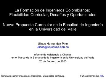 La Formación de Ingenieros Colombianos: Flexibilidad ... - ieRed