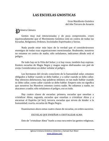 las escuelas gnosticas - Iglesia Cristiana Gnóstica Litelantes y ...