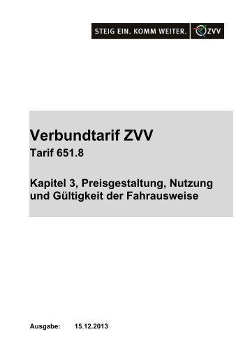 Preisgestaltung, Nutzung und Gültigkeit der Fahrausweise - ZVV