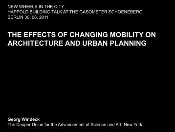 the effects of changing mobility on architecture and urban ... - InnoZ