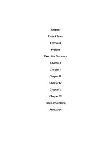 Wrapper Project Team Foreward Preface Executive ... - TNAU