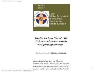 Das Ziel des Jesus Christ: Die Welt zu kreuzigen... - Bare-jesus