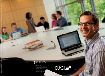 Duke Law viewbook 2013 - Duke University School of Law