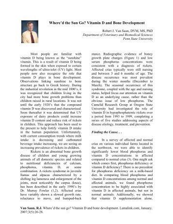 Vitamin D - Veterinary and Biomedical  Sciences