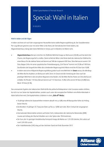 Special: Wahl in Italien - Allianz Global Investors
