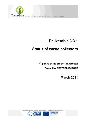 Deliverable 3.3.1 Status of waste collectors - Central Europe