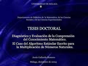 DIAGNÓSTICO Y EVALUACIÓN DE LA COMPRENSIÓN DEL ...