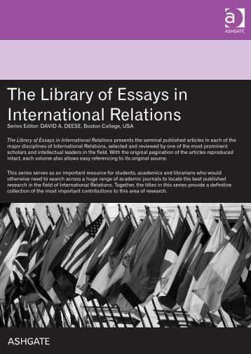 international relations 4 essay Theories of international relations essaysin the study of international relations there exists a number of different theories, which each try to.